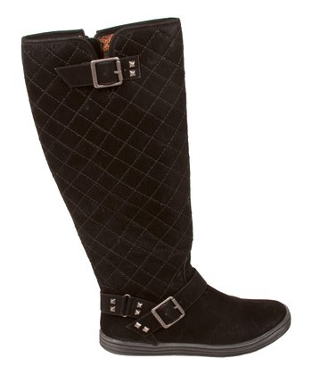 Black Fawn Quilted Reggie Boot