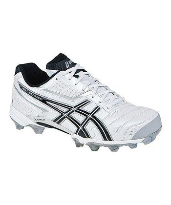White & Black GEL-Provost Low Field Hockey Shoe - Men