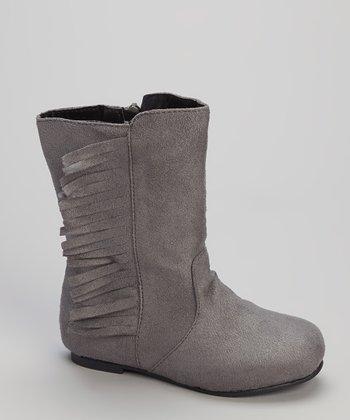 Gray Fringe Boot