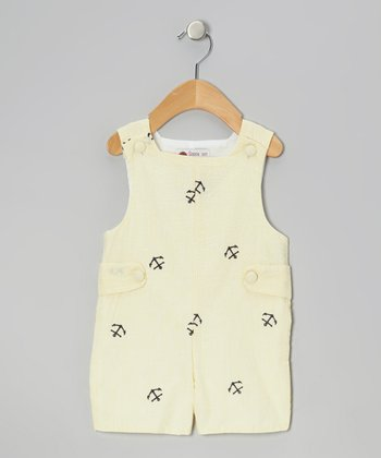 Yellow Anchor Shortalls - Infant & Toddler