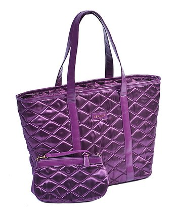 Plum Day-to-Night Tote & Pouch