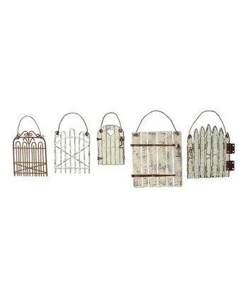 Rustic Gate Ornament Set
