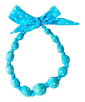 Turquoise Polka Dot Beaded Necklace