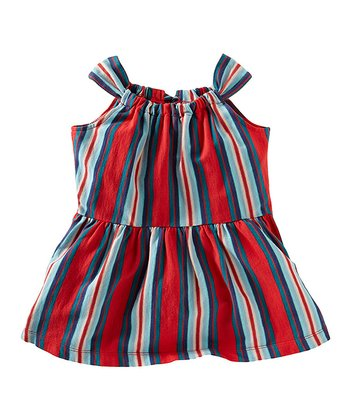 Red Pepper Venda Stripe Twirl Top - Girls