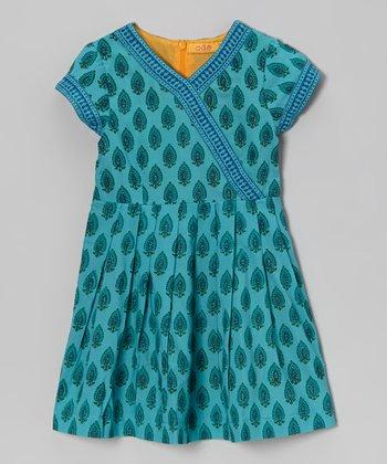 Aqua Julia Surplice Dress - Toddler & Girls
