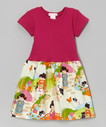 Pink Secret Fan Dress - Infant, Toddler & Girls
