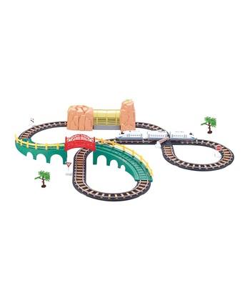 High Speed Rail Track Scene with Bridge & Tunnel