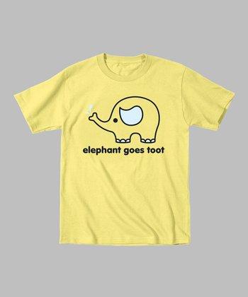 Banana 'Elephant Goes Toot' Tee - Toddler & Kids