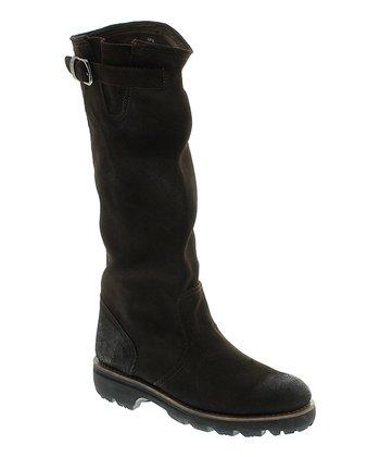 Ebony Leather Boot