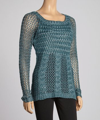 Lagoon Cable-Knit Tunic