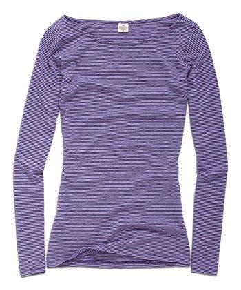 Purple Stripe Scoop Neck Top