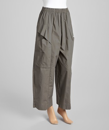 Awesome Floopi Olive Green Drawstring Cargo Capri Pants  Women  Zulily