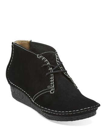 Black Suede Faraway Canyon Ankle Boot