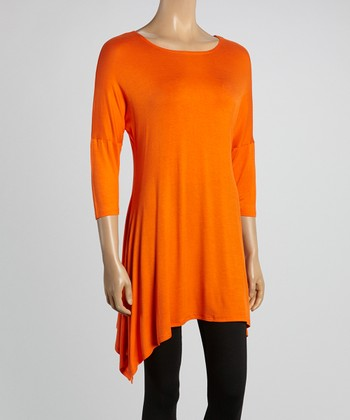 Orange Sidetail Tunic