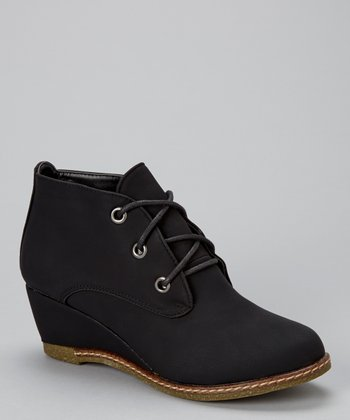 Black Willow Wedge Ankle Bootie