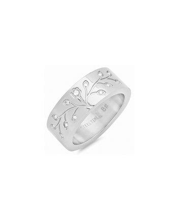 Stainless Steel & Cubic Zirconia Diamond Tree of Life Ring
