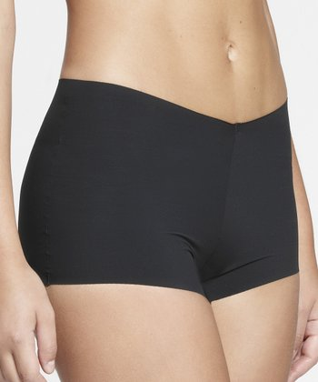 Black Invisible Boyshorts - Women