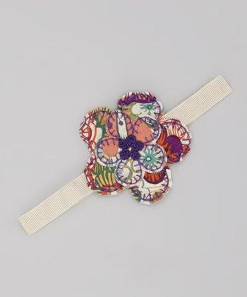 Tan Flower Garden Headband