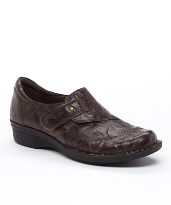 Brown Scrunch Whistle Carol Leather Slip-on Shoe