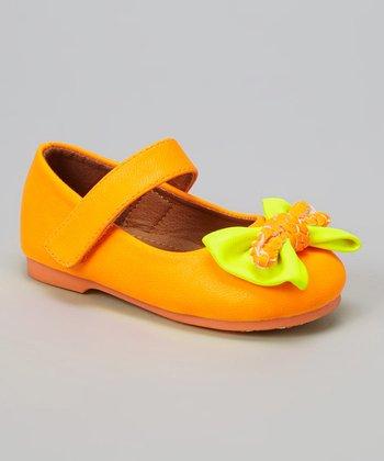 Orange & Yellow Neon Mary Jane