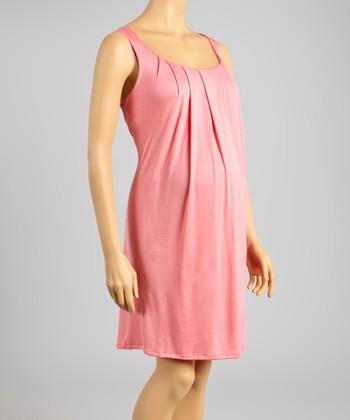 madeleine maternity soft pink baby shower maternity dress women