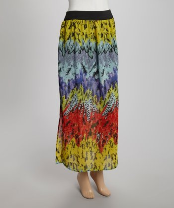 fashion web turquoise feather sheer maxi skirt zulily