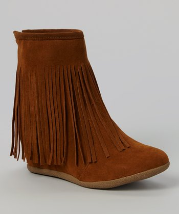 shoes of soul fringe wedge boot zulily