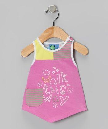 Super Pink 'Walk This Way' Tank - Infant