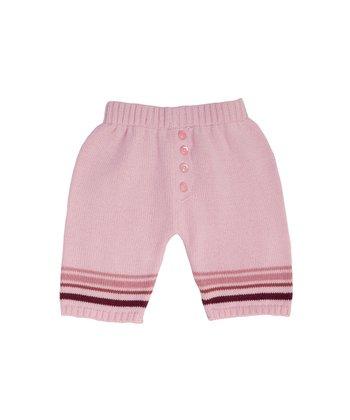 Pale Pink Stripe Knit Pants