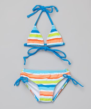 Blue Stripe Ice Pop Bikini - Infant, Toddler & Girls