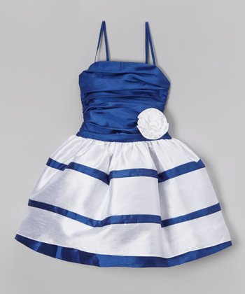 Royal & White Diedre Babydoll Dress - Girls