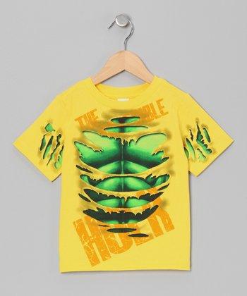 Yellow Ripped Hulk Tee - Toddler & Boys