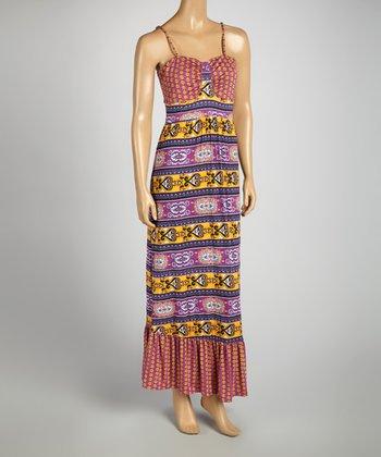 Byzantium Arabesque Maxi Dress