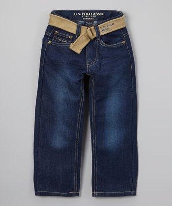 Blue Belted Jeans - Toddler & Boys