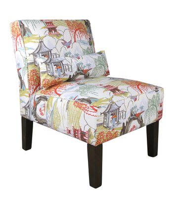 Coral Neo Toile Armless Chair zulily