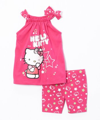 Fuchsia Hello Kitty Tank & Shorts - Toddler & Girls