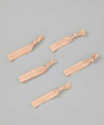 Solid Nude Hair Tie Set