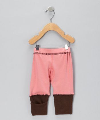 Brown & Pink Organic Pants - Infant