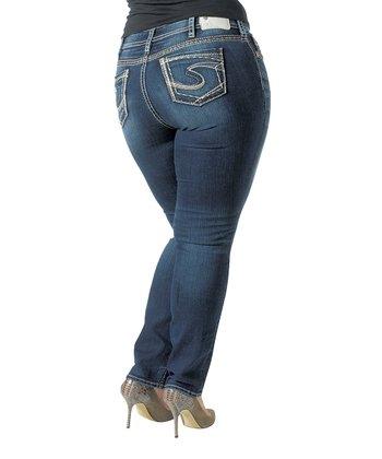 Indigo Faded Dark Wash Curvy Suki Skinny Jeans - Women & Plus