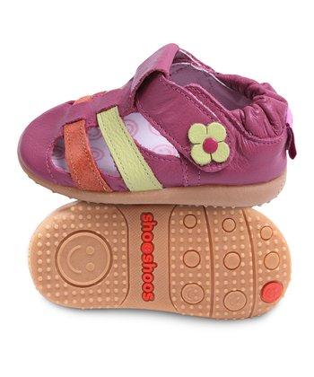 Ruby Flower Smiley T-Strap Shoe
