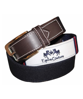 equine couture navy southfields leather belt zulily