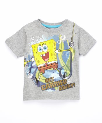 Gray SpongeBob 'Get Carried Away' Tee - Toddler