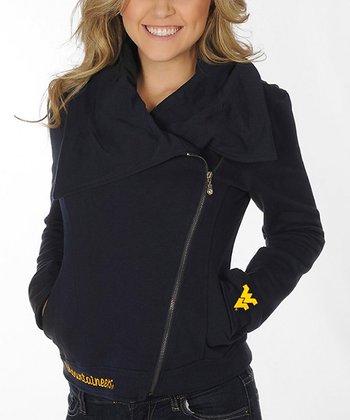 West Virginia Mountaineers Fleece Moto Jacket - Women