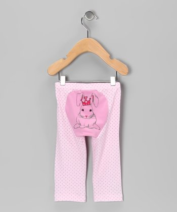 Pink Polka Dot Bunny Foo Foo Pants - Infant & Toddler