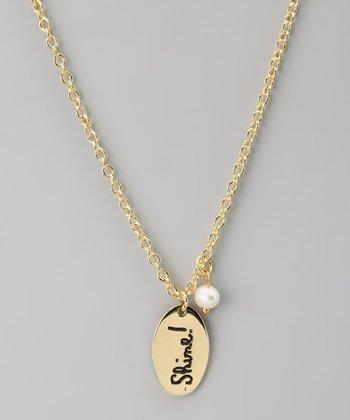 Gold & Pearl 'Shine!' Pendant Necklace