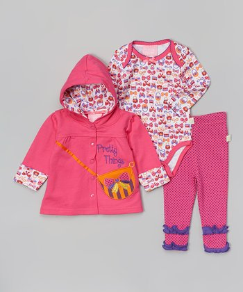 Pink 'Pretty Things' Purse Hoodie Set