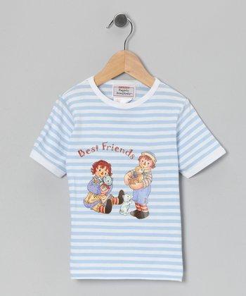 Blue Stripe Raggedy Ann 'Best Friends' Tee - Toddler