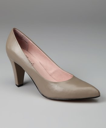 Taupe Peru Leather Pump