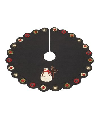 Black & Cream Winter Pals 24'' Tree Skirt