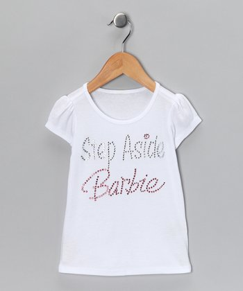 White 'Step Aside Barbie' Tee - Infant, Toddler & Girls